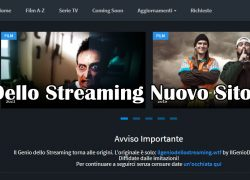 il Genio Dello Streaming Nuovo Sito Indirizzo (2021)